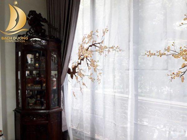 Rèm voan thêu đẹp cho nhà riêng