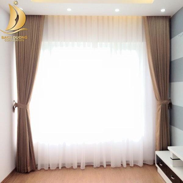 Vải voan dùng để kết hợp làm thành rèm 2 lớp