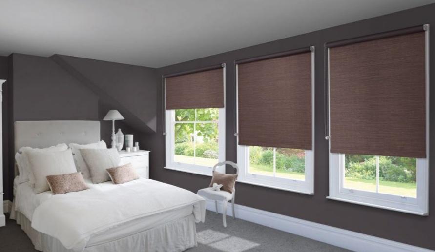 Hình ảnh: Rèm cuốn thiết kế cho phòng ngủ